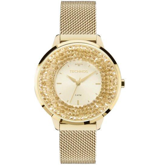fda1d6da56a Relógio Feminino Technos 2035MLG 4X Pulseira Aço Dourada - Dourado ...