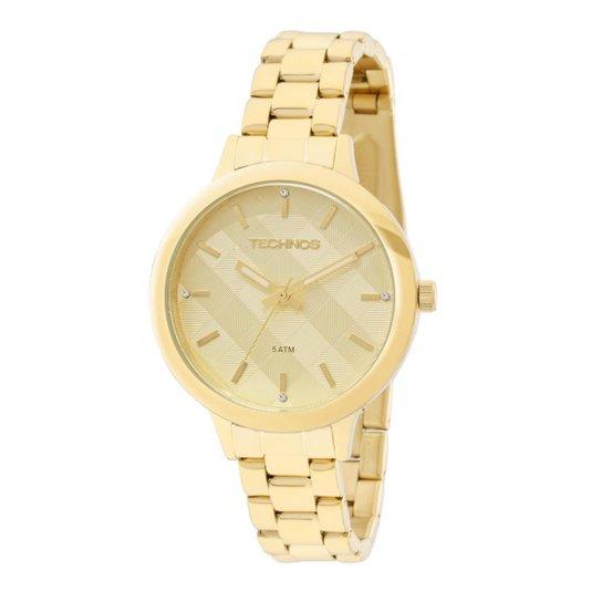 1d35be49ce1 Relógio Feminino Technos Trend 2036MES 4D Pulseira Aço Dourada - Dourado