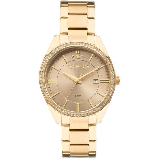 0debb48d4f5 Relógio Feminino Technos Ladies 2115MNB 4M Pulseira Aço - Dourado ...