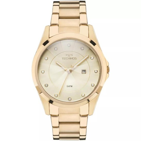 f52205569a9 Relógio Feminino Technos GN10AS 4X Aço - Dourado - Compre Agora ...