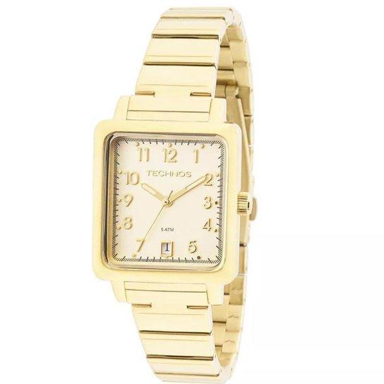 ec3cebcbde6 Relógio Feminino Technos 2115KPJ 4D Boutique Quadrado - Dourado ...