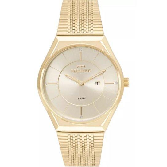 3de16f2b1cd Relógio Feminino Technos Gl15ar 4X - Dourado - Compre Agora