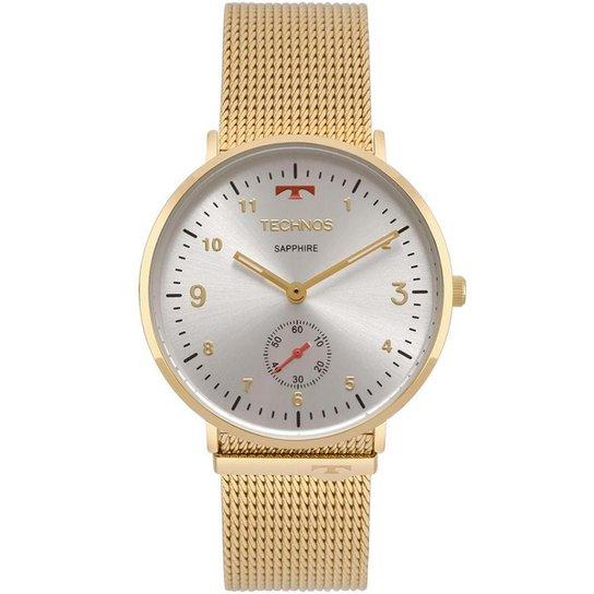 b40dbce3b16 Relógio Technos Unissex Slim - 1L45AZ 4B 1L45AZ 4B - Dourado ...