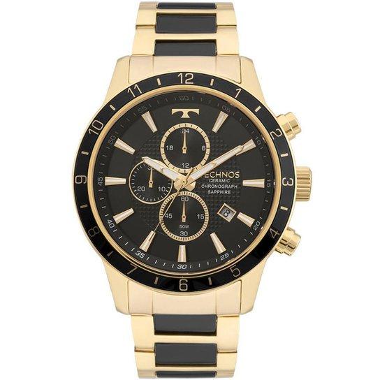 Relógio Technos Masculino Classic Ceramic Saphire - JS15FI 4P JS15FI 4P -  Dourado 3cfaa240b6