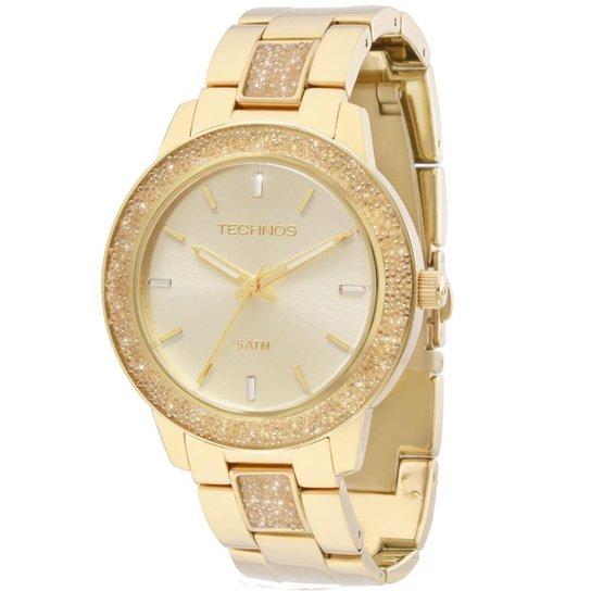 61cc2ffc2a4 Relógio Technos Feminino Crystal Analógico - 2035MFD 4X 2035MFD 4X - Dourado
