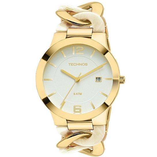 41d0d0ca08c Relógio Technos Feminino Dourado e Madrepérola - 2115UK 4B 2115UK 4B -  Dourado