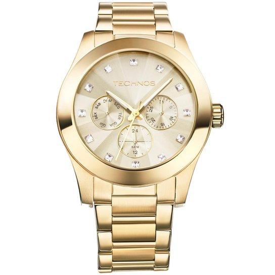 Relógio Technos Feminino Dourado - 6P29AGD 4X 6P29AGD 4X - Compre ... 33d3d98bd9