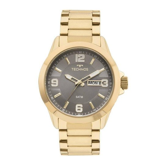 Relógio Technos Masculino Classic Steel - Dourado - Compre Agora ... 01ebc5ec85