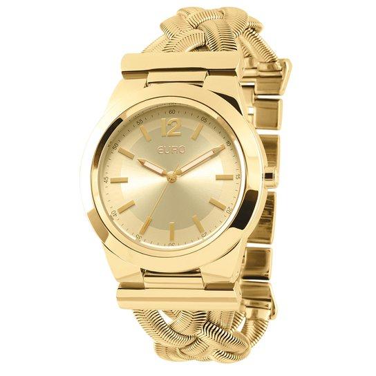 72d5133c3df Relógio Euro Pulso Dourado Pulseira Aço Qz - Compre Agora