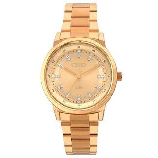 82a0b90a44 Relógio Feminino Euro EU2036YLG 4X 39mm Pulseira Aço Rosê