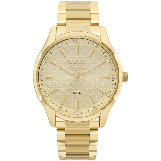 7bf1554d15c Relógio Feminino Euro EUY121E6AB 4D 41mm Pulseira Dourada - Dourado ...