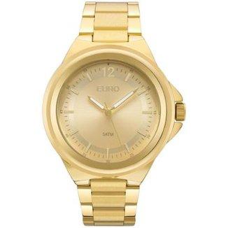 Relógio Feminino Euro EU2039JC 4Y Pulseria Aço Dourada 43cff36b80