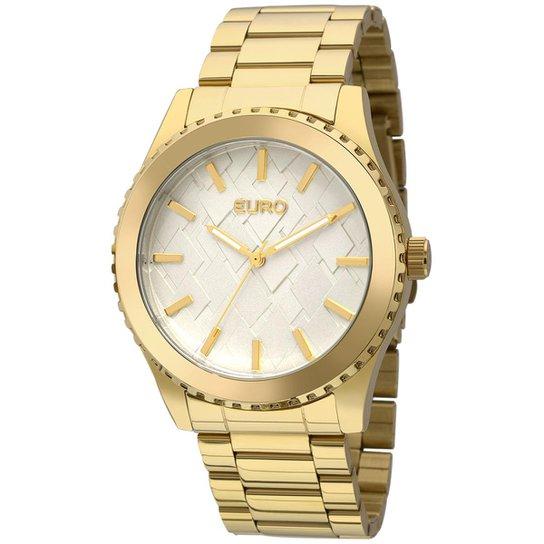 e9d013a14e Relógio Euro Feminino 3D - Dourado - Compre Agora