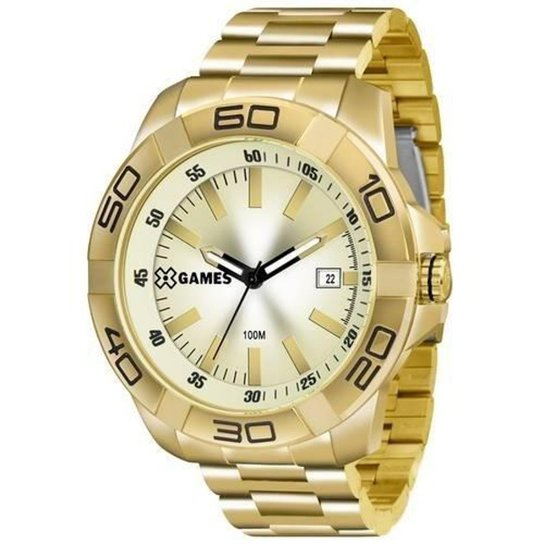 55dc183af9f Relógio X-Games XMGS1020 C1KX Masculino - Dourado - Compre Agora ...