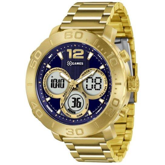3afe8e9b2d4 Relógio Masculino X-Games Anadigi Xmgsa002 D2kx Do - Dourado ...