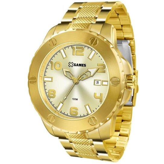 2f584879228 Relógio Masculino X Games Xmgs1026 C2kx Big Case D - Dourado ...