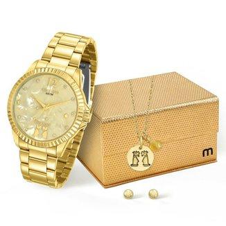 0aebaee8172 Kit Relógio Mondaine Feminino Gêmeos - 99128LPMKDE5K1