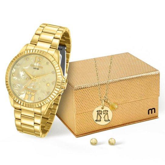 8824e3d9eb9 Kit Relógio Mondaine Feminino Gêmeos - 99128LPMKDE5K1 - Dourado ...