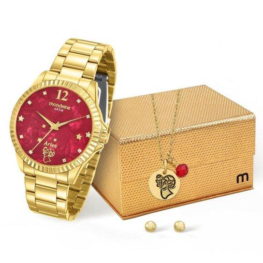 8f1af88f6e9 Kit Relógio Mondaine Feminino Áries - 99128LPMKDE9K1 - Compre Agora ...