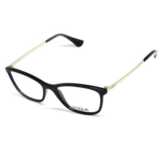 29cf1a5bc18df Armação De Óculos De Grau Vogue 5219-L T 51 C Feminino - Dourado ...