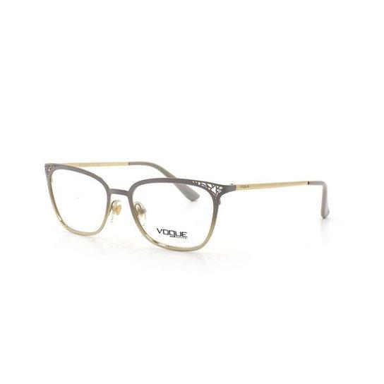 addf0a2a2c78e Armação De Óculos De Grau Vogue 4103 T 52 C 5088 Metal - Dourado ...
