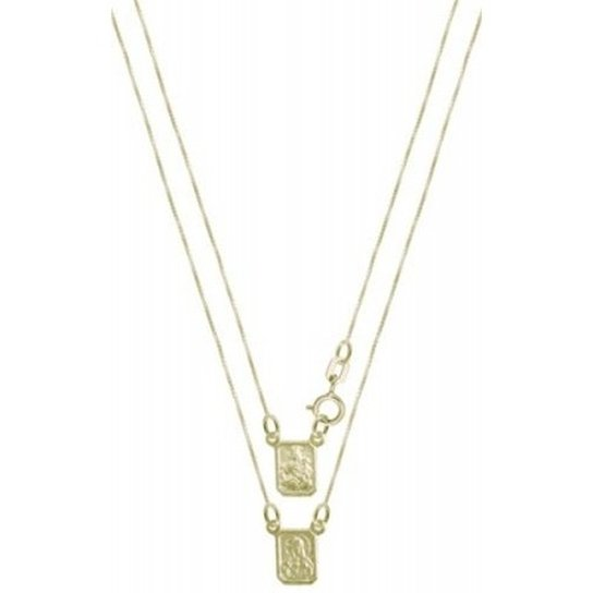 2f5942ad235 Escapulário de Prata revestida com Ouro Convex Jóias - Dourado ...