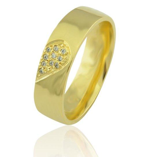 Aliança Neo Joalheiros casamento Luxo em ouro 18K Marselha com Diamantes  Feminina - Dourado 855d129e57