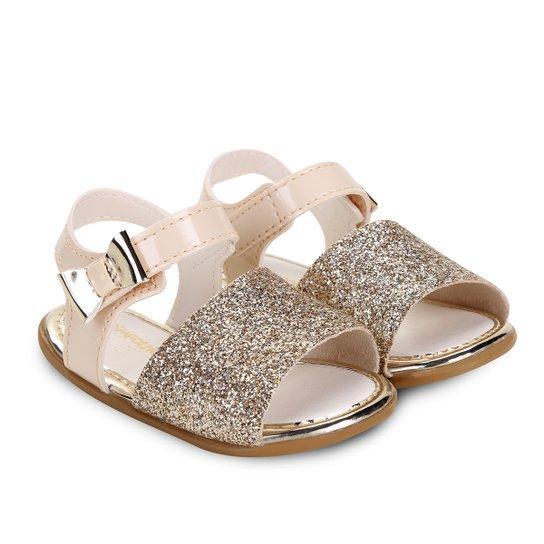 76630fc337 Sandália Infantil Pimpolho Glitter Feminina - Dourado - Compre Agora ...
