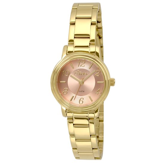 Relógio Condor Feminino Mini - Dourado - Compre Agora   Zattini 05cdfa6cdb