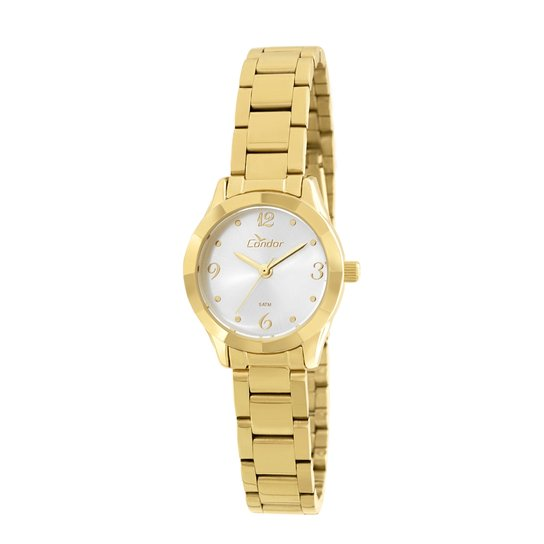 Relógio Condor Mini CO2035KOZ 4K Feminino - Dourado - Compre Agora ... 7421657888