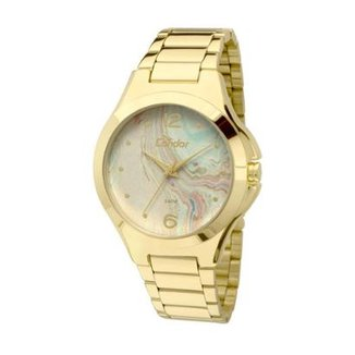 3932a82b718 Relógio Condor Coleção Marmorizados CO2035KOF 4V - Dourado CO2035KOF 4V