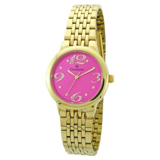 1a3f1c6c0c7 Relógio Champion Analógico CH24919L Feminino - Dourado - Compre ...