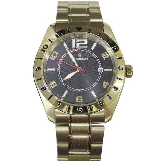 5d06a3942ab Relogio Masculino Champion Dourado Com Pulseira De Couro Relógio