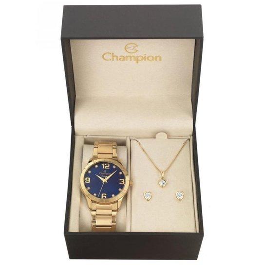1a6ce294e67 Kit Relógio Feminino Champion Cn26055k - Compre Agora