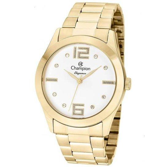 850f1e6c4de Relógio Champion Feminino Elegance - Dourado - Compre Agora