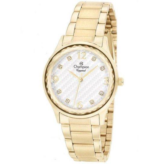91220932e59 Relógio Champion Feminino Crystal - Dourado - Compre Agora