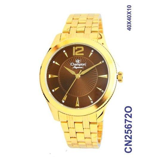 de5a5b73bfb Relógio Champion Feminino- Cn25672o - Dourado - Compre Agora
