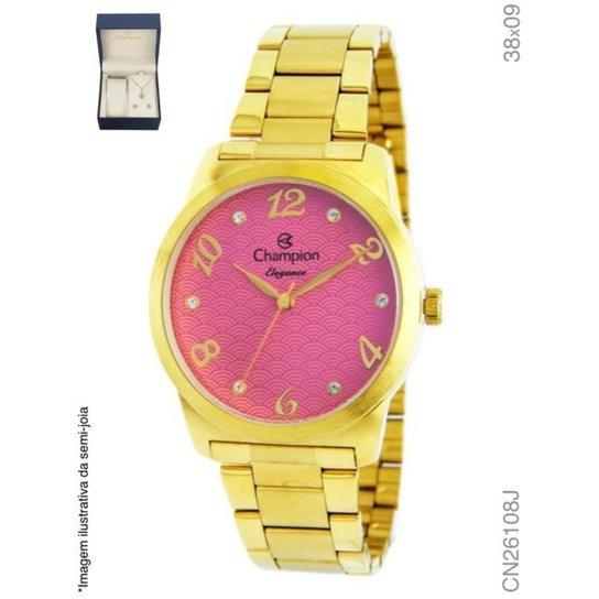f545907cd44 Relógio Champion Feminino- Cn26108j - Dourado - Compre Agora