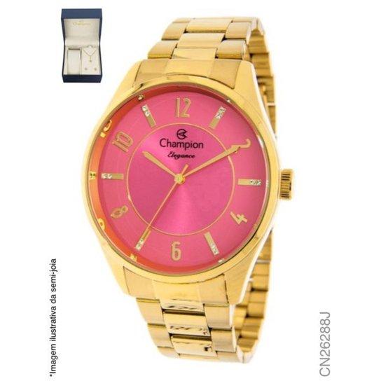 f19e750598a Relógio Champion Feminino- Cn26288j - Dourado - Compre Agora