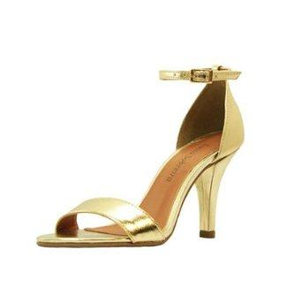 c9a8b9161 Compre Sandalias de Salto Dourada Online | Zattini