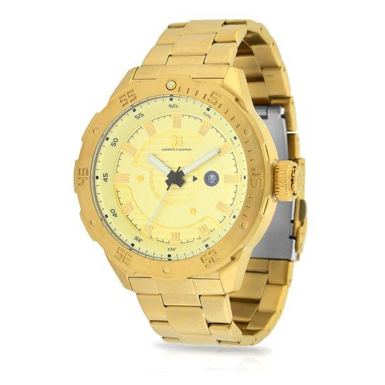 f6c123519ed Relógio Garrido e Guzman Analógico 2032GSG Masculino - Dourado ...