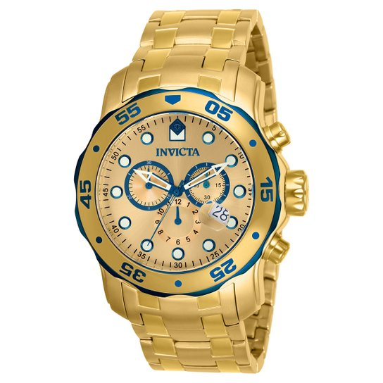 d7b1a9945a8 Relógio Invicta Pro Diver-80069 - Dourado - Compre Agora