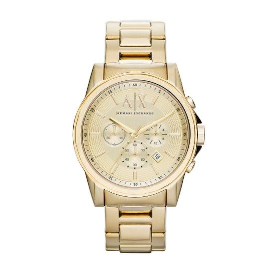 185520775d0 Relógio Armani Exchange Analógico AX2099 4DN Masculino - Dourado ...