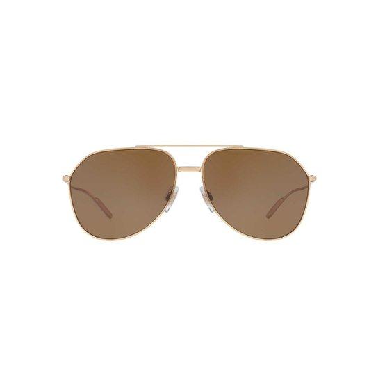 35782238ba0bb Óculos de Sol Dolce   Gabbana Piloto DG2166 Masculino - Dourado ...