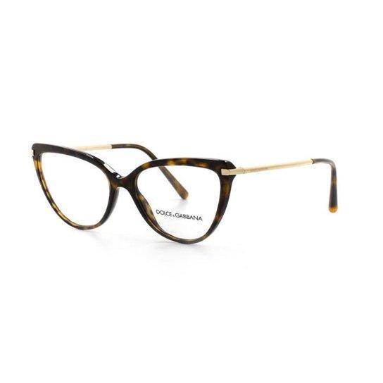 b2832bec8bf40 Óculos Grau Dolce Gabbana 3295 T 55 C 502 Feminino - Compre Agora ...