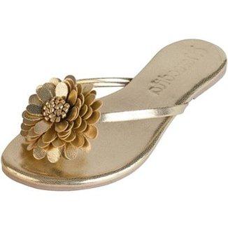 745f4d18ea Rasteirinha Mercedita Shoes Conforto Flor Feminina