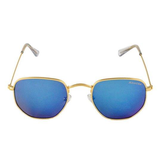 aaed0b61f5d38 Óculos de Sol Khatto Fusion Round Masculino - Dourado - Compre Agora ...