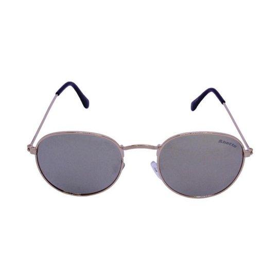 19992f3a1939c Óculos de Sol Khatto Round Moon Masculino - Dourado - Compre Agora ...