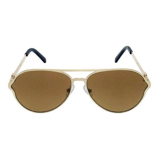 7f7e7a92361b1 Óculos de Sol Khatto Aviador Details Masculino - Dourado - Compre ...