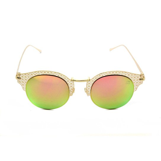 6f3dfd91b Óculos de Sol Khatto Clubmaster Renda Feminino - Dourado | Zattini